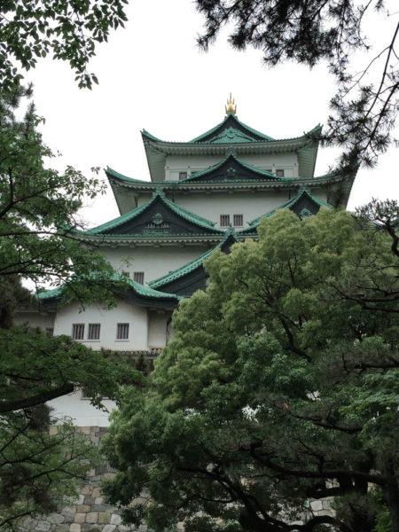 名古屋城の天守閣。
