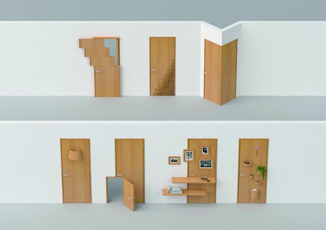 照明を兼ねたり、棚になったり 空間を楽しく彩るドアを提案