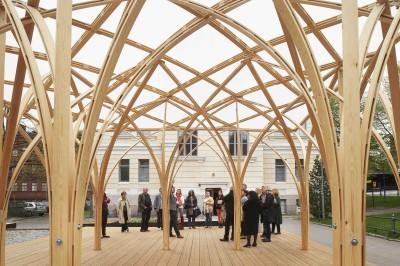 2015年に完成したパビリオン「Säie Pavilion」。