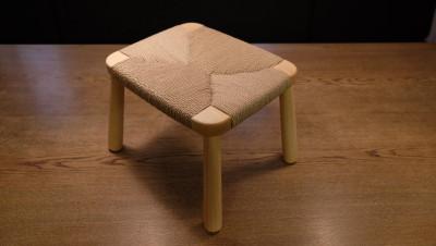 ペーパーコードの椅子