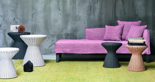素材を追求した家具とファブリックの融合