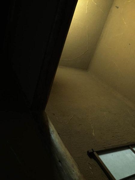 床は天井も左官。壁とともに塗りまわしています。