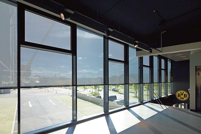 スタイリッシュなデザインで建物を風から守る
