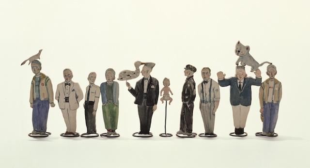 舟越桂 《板きれの人形》 1985年頃 楠、杉、針金 舟越械、舟越みも、末盛武彦、末盛春彦、その他蔵