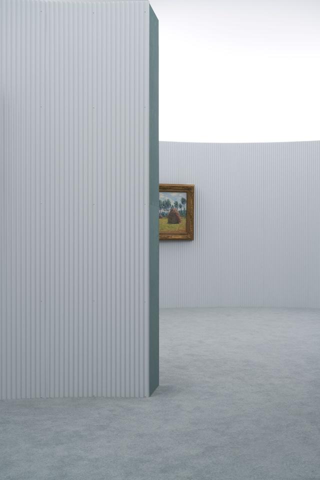 箱根ポーラ美術館「モネ-光のなかに 会場構成:中山英之」
