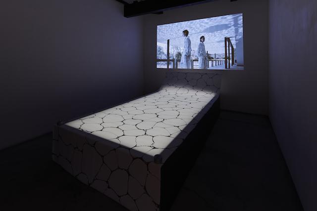 KURA展「墨流し」会場風景